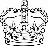 Coloring Crown Printable Mahkota Sketsa Gambar King Queen Simple Crowns Contoh Sheets Preschool Boys Headdress Saint Decoration Berbagai Kumpulan Liftarn sketch template