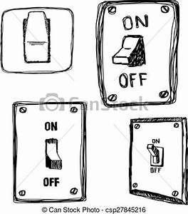 vector clip art of doodles single wall light switch With x10 2 way light switch