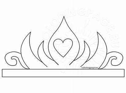 Crown Princess Paper Printable Template Coloring Tiara