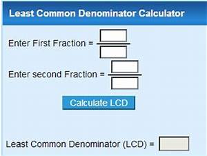 Least Common Denominator Calculator | Level G Resources ...