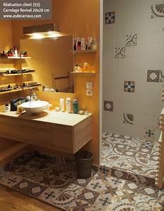 escalier carreau ciment best etageres escalier inspirant With carrelage adhesif salle de bain avec rampe led cuisine