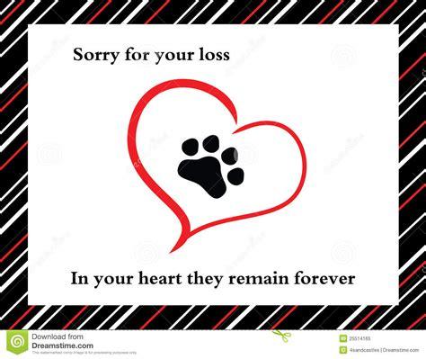 pet sympathy card stock vector illustration  sorrow