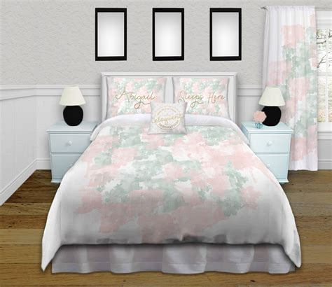 gold polka dot comforter green and pink bedding for with gold personalized 3857