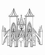 Church Coloring Drawing Outline Medieval Churches Buttress Flying Sheets Gothic Cathedral Printable Colouring Architecture Bluebonkers Activity Study Unit Books sketch template