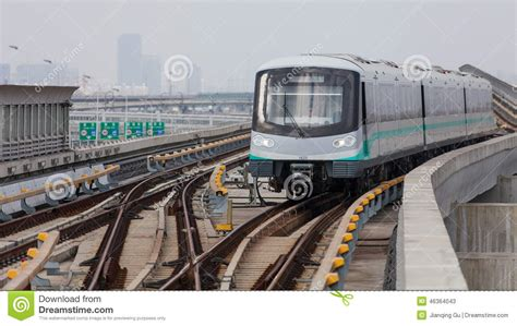 The subway is a fast, safe, comfortable and shanghai metro development. Shanghai Metro Stock Photo - Image: 46364043