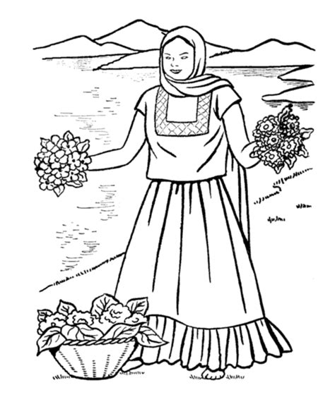 Mexican Christmas Coloring Pages - Eskayalitim