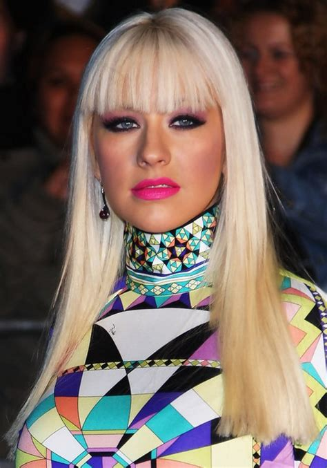 top   beautiful hair   christina aguilera