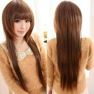 model potongan rambut wanita  wajah bulat tips