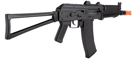 WellFire AK74U Gas Blowback GBB Airsoft Rifle Black ...