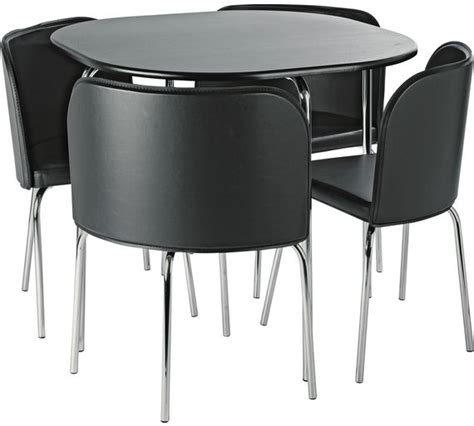 Kitchen Furniture Argos by Buy Hygena Aro Dining Table 4 Chairs Black Dining