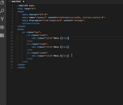 Emmet Visual Studio Code