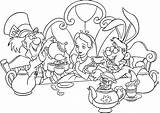 Tea Coloring Party Pages sketch template