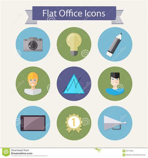 icones bureau icônes plates 2 de bureau illustration de vecteur image