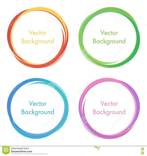 colorful modern vector abstract circles round frames