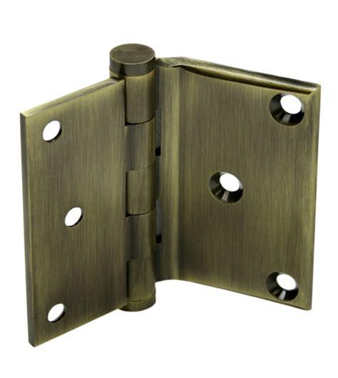 screen door hinges 3 x 3 1 2 x square corners solid brass half surface hinge