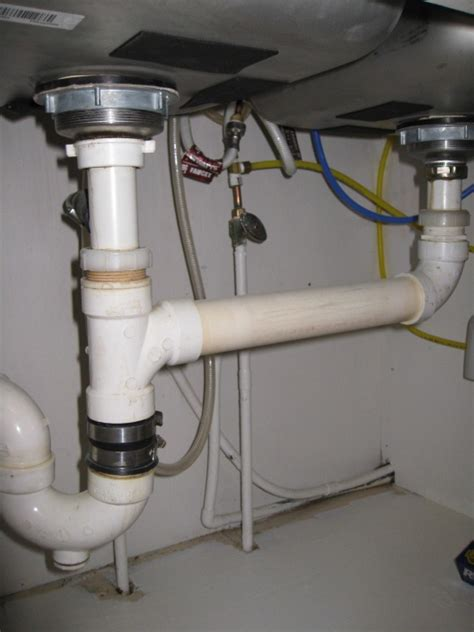 Garbage Disposal Under Double Sink  Plumbing  Diy Home