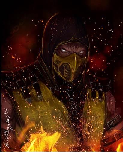 Scorpion Mortal Kombat Fanart Hellfire Wallpapers Grapiqkad