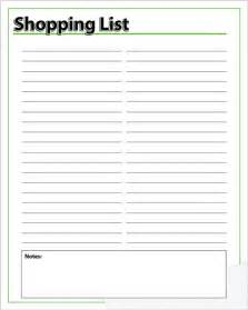 free printable grocery list form calendar template 2016