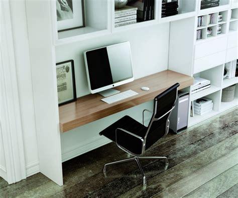 bibliothèque bureau intégré bureaux home office forme et style