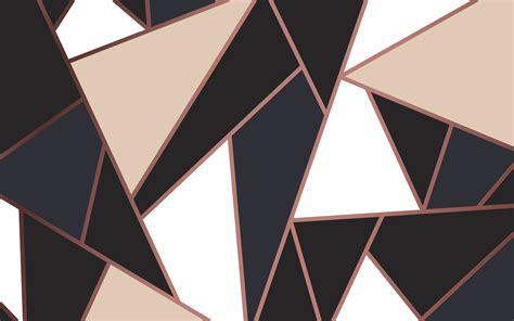 modern mosaic wallpaper  rose gold cream  black