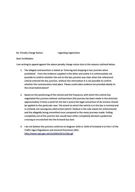 parking ticket appeal letter  sampletemplatess