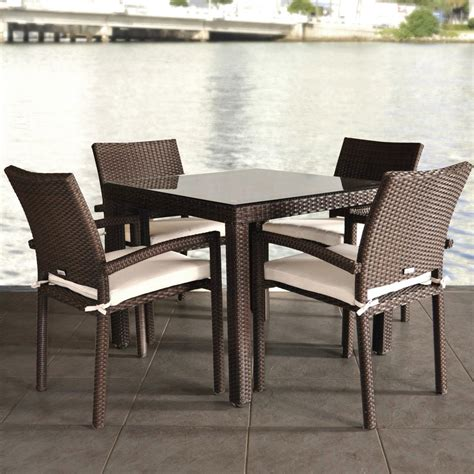 wicker dining table  chairs marceladickcom