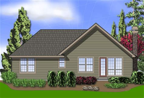 single story cottage plan   car garage  architectural designs house plans