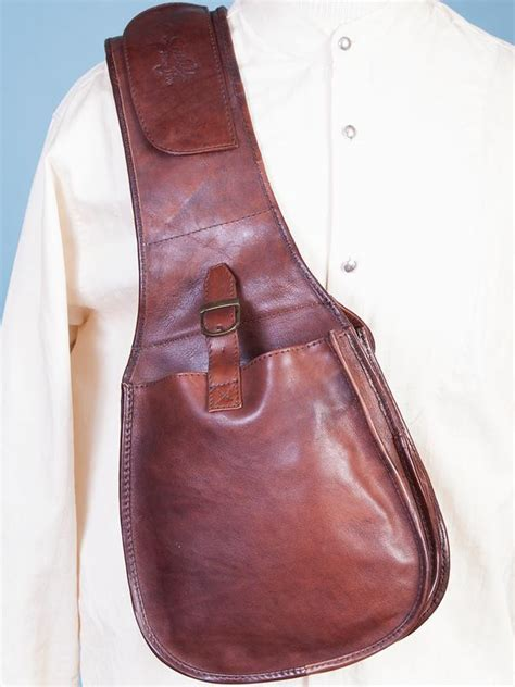 scully mens accessory  leather saddle bag outwest
