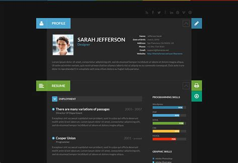 Interactive Resumes Websites by 12 Creative Interactive Resumes Web