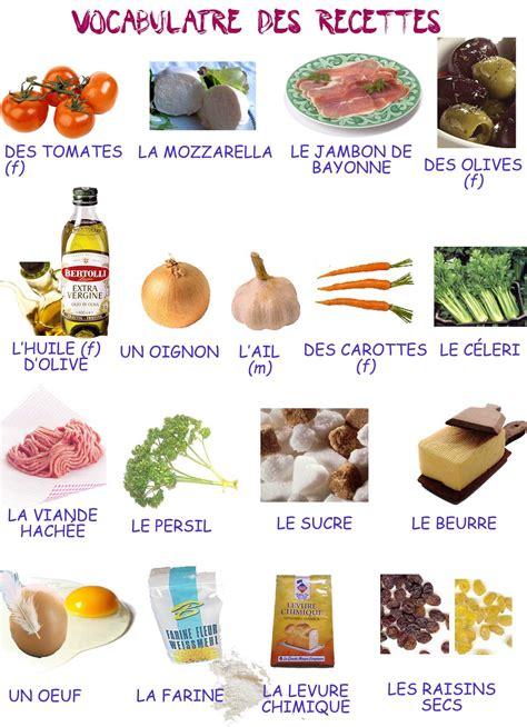 cuisiner traduction anglais vocabulaire des recettes