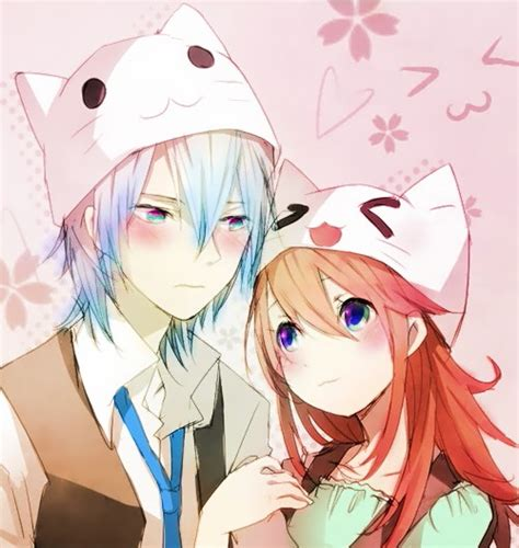 anime couple and cat kawaii couple anime couple boy and girl pinterest