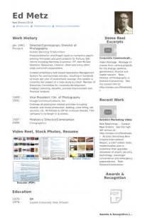 director of photography resume sles visualcv resume