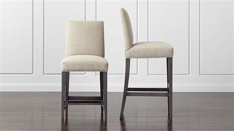upholstered bar stools crate and barrel