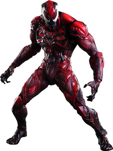 red venom play arts kai  action figure spider man