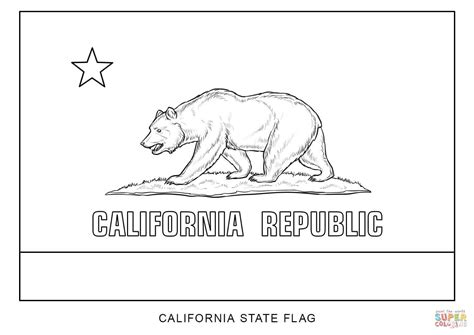 California State Symbols Coloring Pages Flag Of California Coloring Page Free Printable Coloring