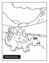 Kentrosaurus sketch template
