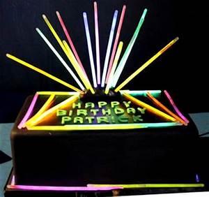 Glow Party Birthday Cake Use Glow Sticks s