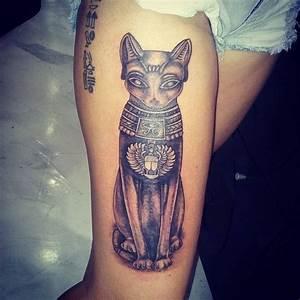 Custom Egyptian Cat. Leg Tattoo | Tattoo Fashions ...