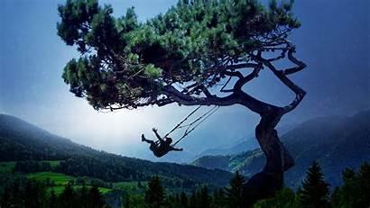 Wallpapers 8k Dream Rocking Swing Fantasy Tree