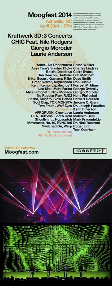 Looking for music events in asheville? Moogfest: Asheville, North Carolina April 23- 27, 2014 ...