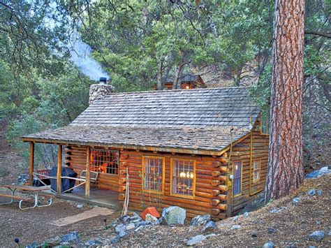 rustic log cabin secluded cabin near mount pinos california