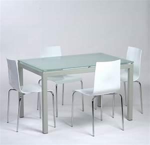table agatha verre sable 04 chaise zip meubles et With table en verre cuisine