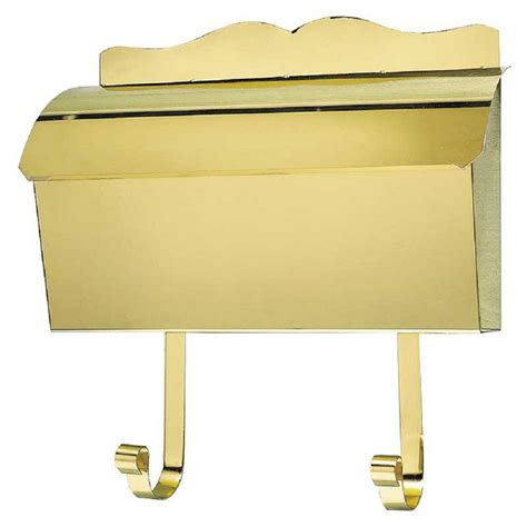 wall mount mailbox home depot qualarc polished brass wall mount non locking mailbox mb