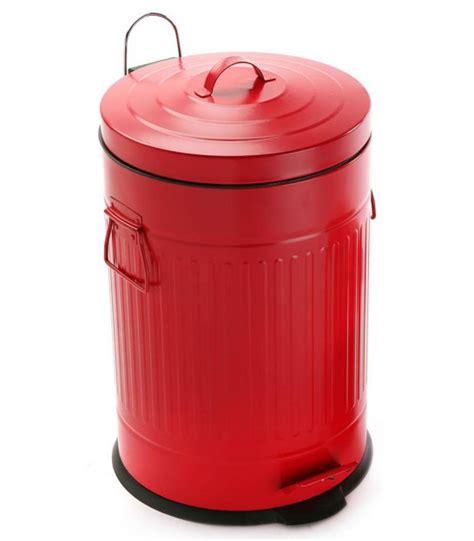 poubelle de cuisine poubelle de cuisine r 233 tro en m 233 tal blanc 30l wadiga com