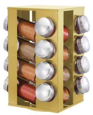 Unfilled Spice Rack revolving spice rack gold 16 jars buy at the
