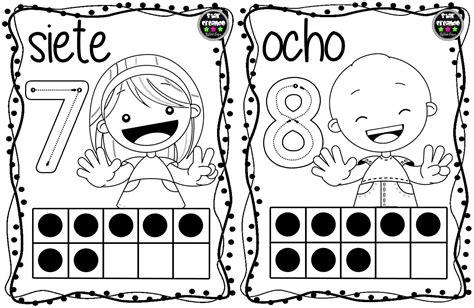 Tarjetas números para colorear (5) Imagenes Educativas