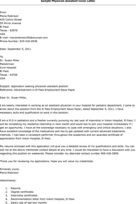 physician assistant cover letter best photos of physician cover letter exles physician