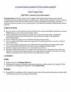 Customer service job duties for resume for service for Customer service resume description