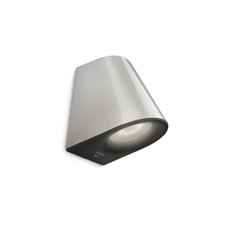 philips mygarden outdoor wall light inox led energy saving