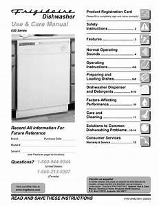 Frigidaire Fdb658rac1 User Manual Dishwasher Manuals And